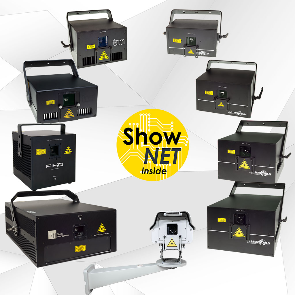 ShowNET becomes mainboard for most laser systems of the